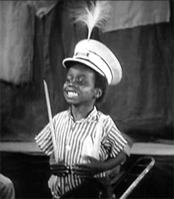 "Billie Thomas as Buckwheat in ""Our Gang Follies of 1938."" Image courtesy Gordon Douglas, Wikimedia Commons."